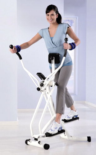 nordic walking crosstrainer weiss. Black Bedroom Furniture Sets. Home Design Ideas
